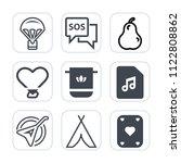 premium outline  fill icons set ... | Shutterstock .eps vector #1122808862