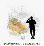 fit young male jogger. healthy... | Shutterstock .eps vector #1122810758