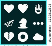 set of 9 shapes filled icons... | Shutterstock .eps vector #1122812828