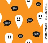 repeating funny ghosts and... | Shutterstock .eps vector #1122821918