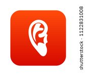 ear icon digital red for any... | Shutterstock . vector #1122831008