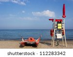 Lifeguard Tower And Boat  Rear...