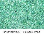 green mosaic wall background... | Shutterstock . vector #1122834965
