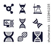 set of 9 science filled icons... | Shutterstock .eps vector #1122841235