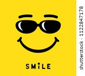 smile with sunglasses sign ... | Shutterstock .eps vector #1122847178