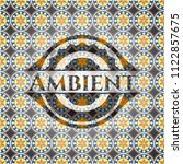 ambient arabesque style badge.... | Shutterstock .eps vector #1122857675