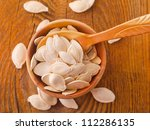 pumpkin seeds | Shutterstock . vector #112286135