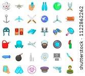 draft icons set. cartoon set of ... | Shutterstock . vector #1122862262