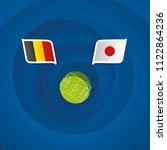 belgium vs japan flags abstract ... | Shutterstock .eps vector #1122864236