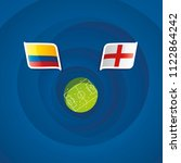 colombia vs england flags... | Shutterstock .eps vector #1122864242