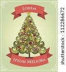 Vintage Christmas Tree Poster...