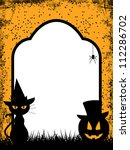 halloween background with black ... | Shutterstock .eps vector #112286702