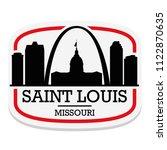 saint louis missouri label...   Shutterstock .eps vector #1122870635