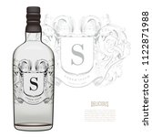 vintage crest logo on vodka... | Shutterstock .eps vector #1122871988
