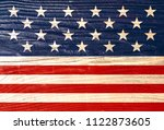 usa flag elements patriotic... | Shutterstock . vector #1122873605