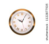 antique wall clock isolated on... | Shutterstock .eps vector #1122877535
