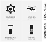 set of 4 editable care icons....