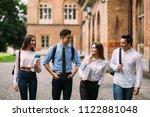 group of university students...   Shutterstock . vector #1122881048