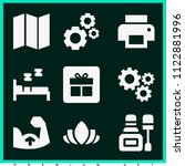 set of 9 other filled icons...   Shutterstock .eps vector #1122881996