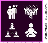 set of 4 man filled icons such... | Shutterstock .eps vector #1122882098