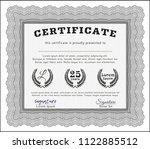 grey certificate of achievement ... | Shutterstock .eps vector #1122885512