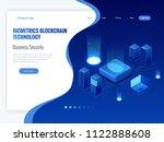 isometric biometrics blockchain ... | Shutterstock .eps vector #1122888608