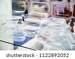 plastic disposable food... | Shutterstock . vector #1122892052