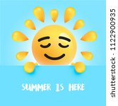 """funny sun smile with the title """"...   Shutterstock .eps vector #1122900935"""