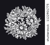 vector black and white floral... | Shutterstock .eps vector #1122901775