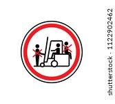 riding on forklift trucks is... | Shutterstock .eps vector #1122902462