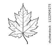 Realistic Maple Leaf Line...