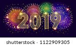 2019 happy new year event... | Shutterstock .eps vector #1122909305