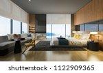 3d rendering nice sea view... | Shutterstock . vector #1122909365