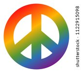 rainbow colored peace symbol on ...   Shutterstock .eps vector #1122915098
