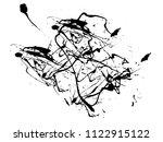 abstract black ink splash...   Shutterstock .eps vector #1122915122