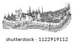 the city and the castle of... | Shutterstock . vector #1122919112