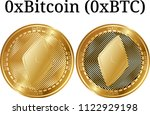 set of physical golden coin... | Shutterstock .eps vector #1122929198