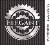 elegant silvery emblem | Shutterstock .eps vector #1122935702
