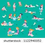 cartoon flat style people... | Shutterstock .eps vector #1122940352