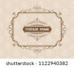 decorative frame in vintage... | Shutterstock .eps vector #1122940382