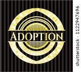 adoption gold emblem or badge | Shutterstock .eps vector #1122947696