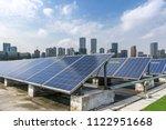 solar and modern city skyline  | Shutterstock . vector #1122951668