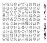 sofa icons set | Shutterstock .eps vector #1122960335