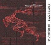 running man  a lot of points...   Shutterstock .eps vector #1122961088