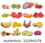 fruit isolated on white...   Shutterstock . vector #1122961178