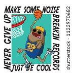 monster playing basketball... | Shutterstock .eps vector #1122970682