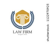 law office logo. the judge  law ... | Shutterstock .eps vector #1122970925