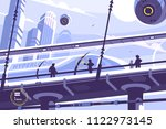 hyperloop future public... | Shutterstock .eps vector #1122973145
