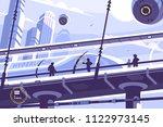 hyperloop future public... | Shutterstock .eps vector #1122973145