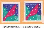 usa circa 1994  stamp printed... | Shutterstock . vector #1122974552